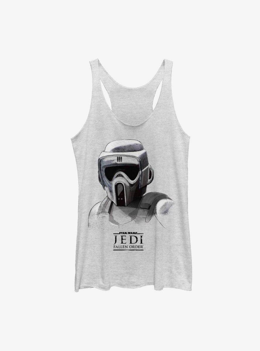 Star Wars Jedi Fallen Order Scout Trooper Mask Womens Tank Top