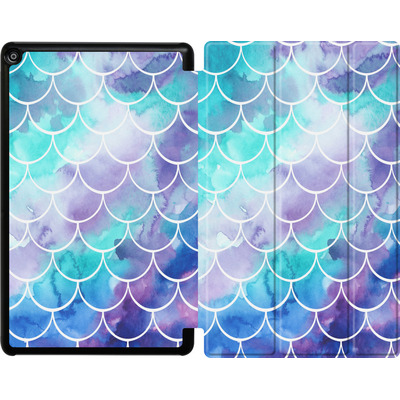 Amazon Fire HD 10 (2017) Tablet Smart Case - Purple Mermaid Scales von Becky Starsmore