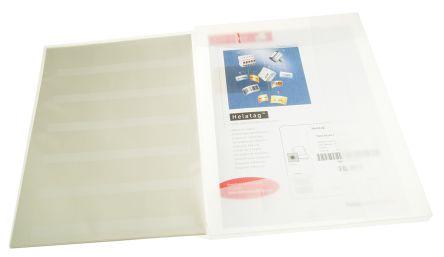 HellermannTyton Helatag Adhesive Cable Marker, Pre-printed -0 Transparent 5.1 ? 10.1mm Dia. Range