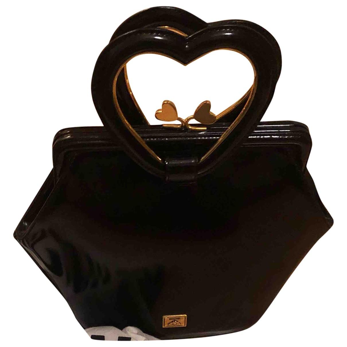 Moschino - Sac a main   pour femme en cuir verni - noir