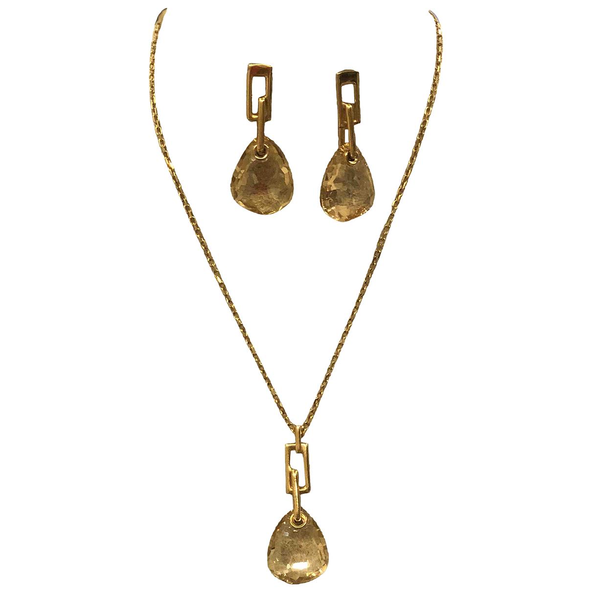 Swarovski \N Schmuck-set in  Gold Kristall