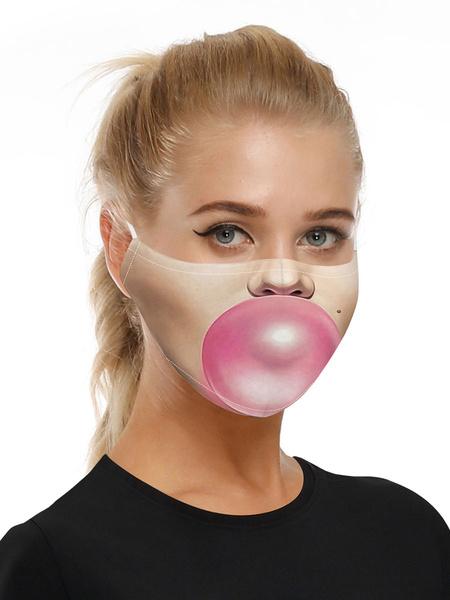 Milanoo Disfraz Halloween Accesorios de disfraces Mascara Blow Bubbles 3D Print Halloween