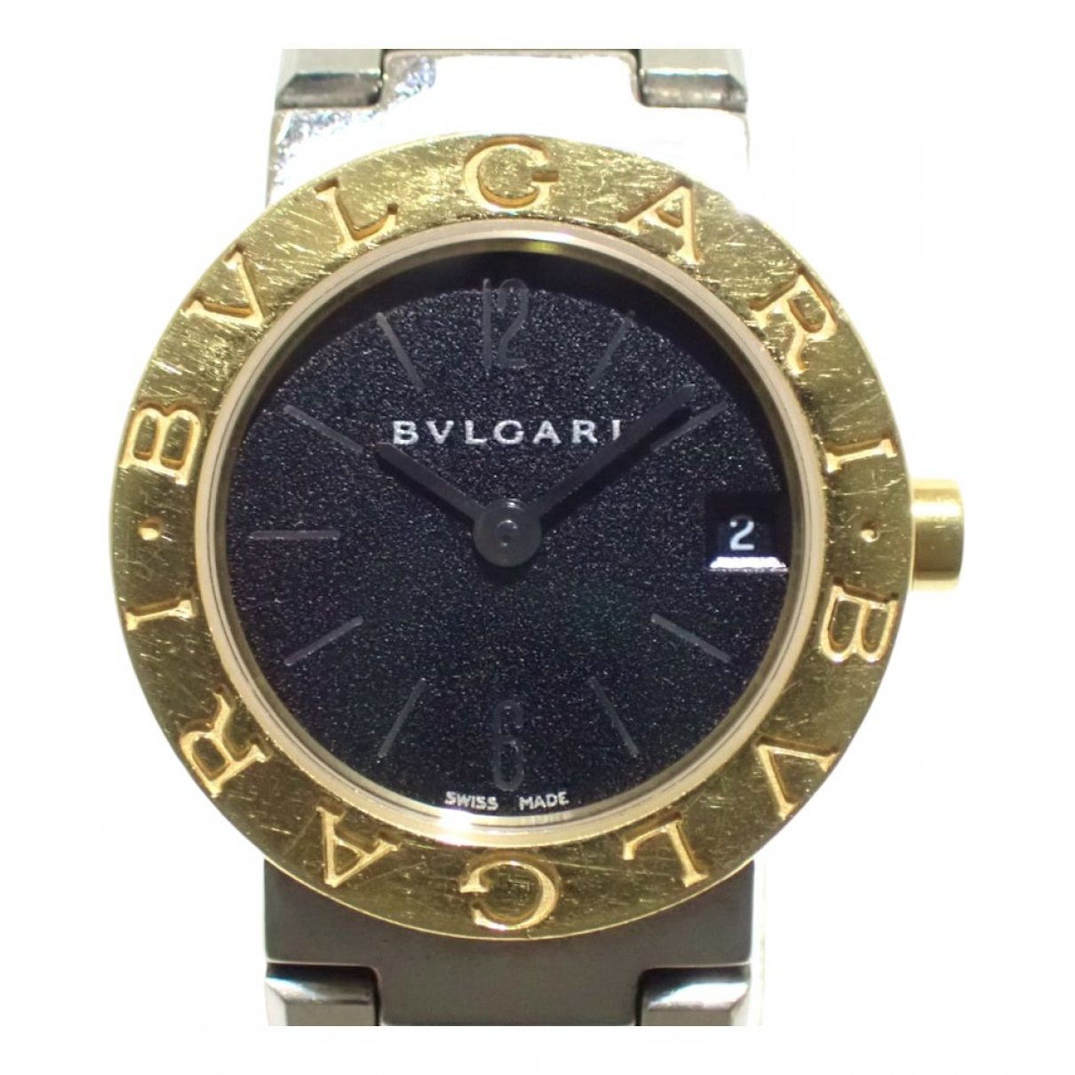 Bvlgari - Montre Bulgari Bulgari pour femme en or et acier - argente