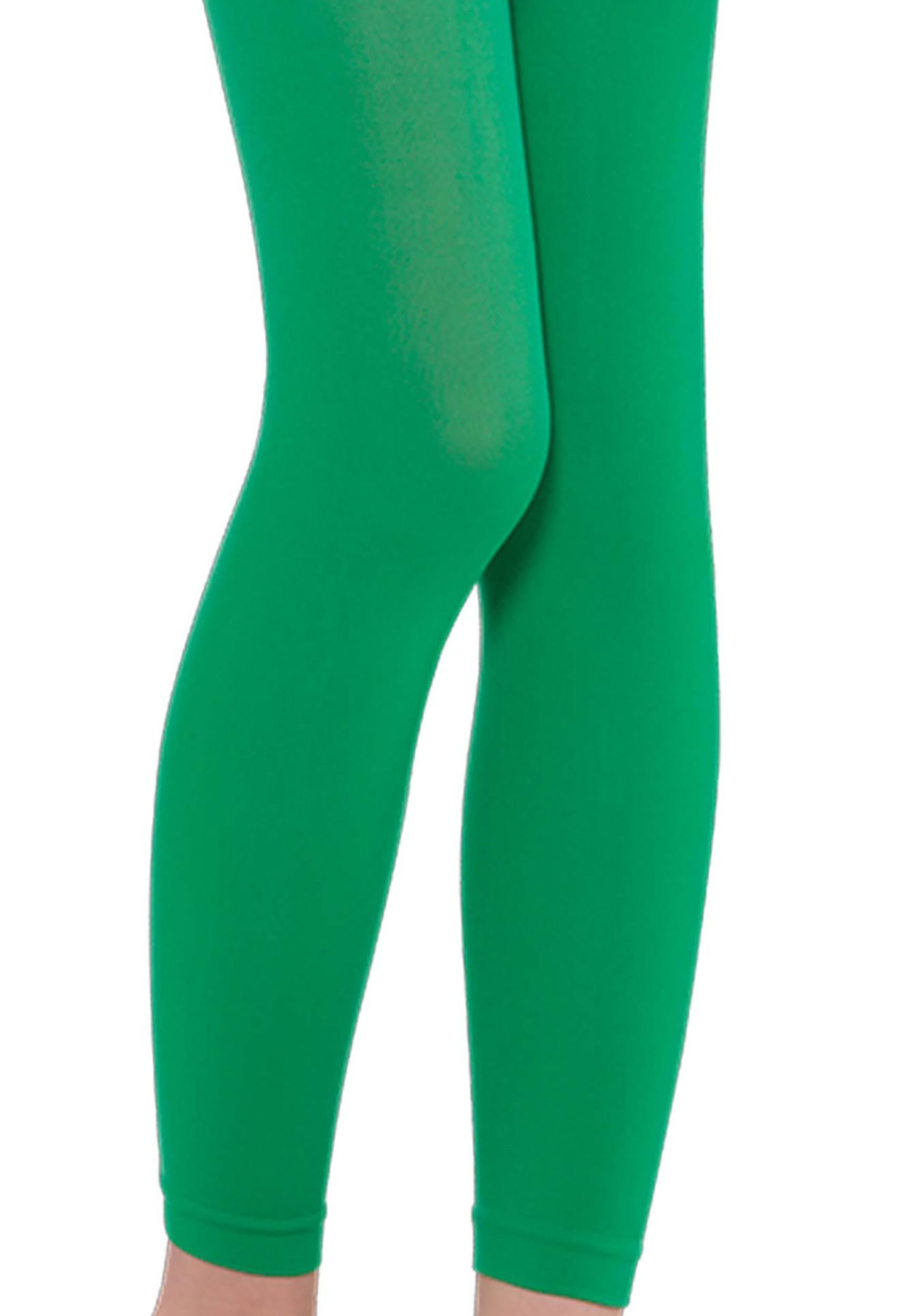 Girl's Green Footless Tights