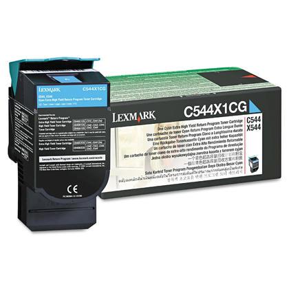 Lexmark C544X1CG cartouche de toner du programme retour originale cyan haute capacité