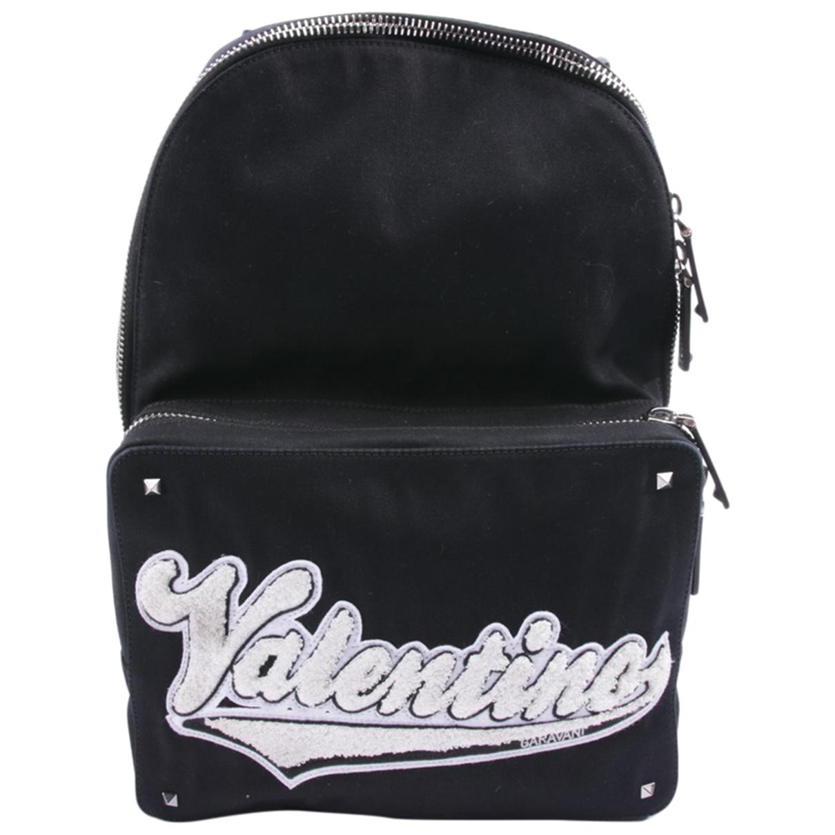 Valentino Garavani \N Black Leather backpack for Women \N