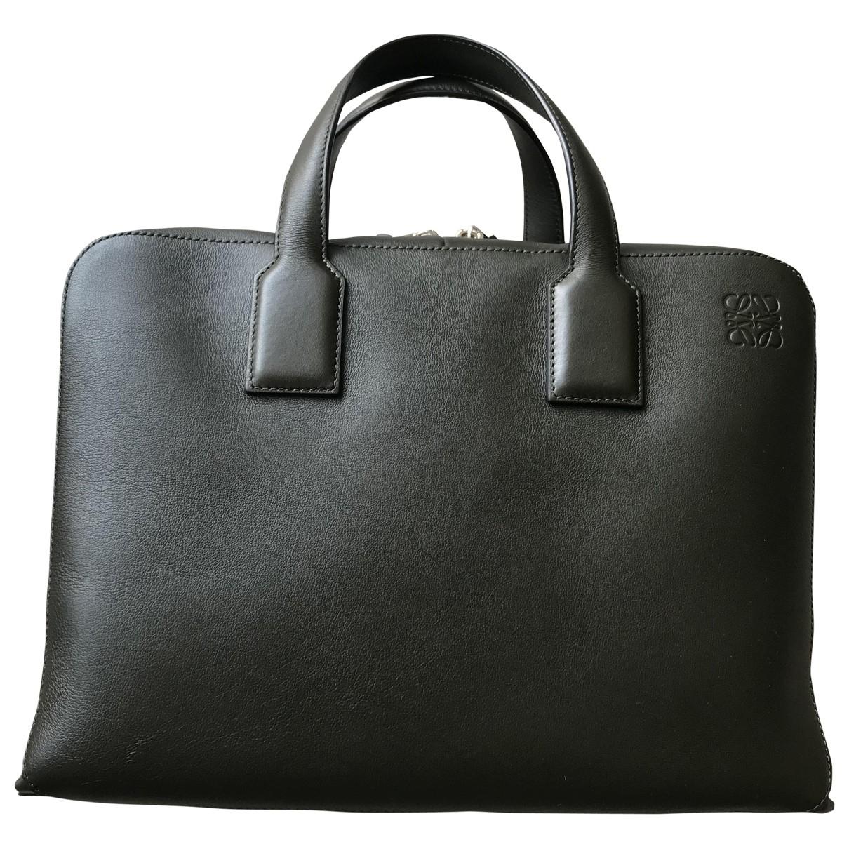 Loewe \N Green Leather bag for Men \N