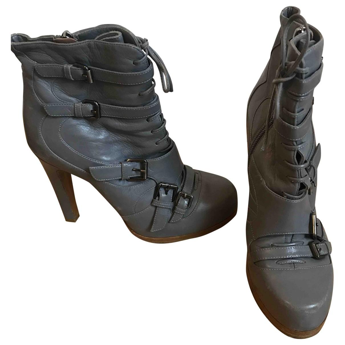 Tabitha Simmons - Boots   pour femme en cuir - gris