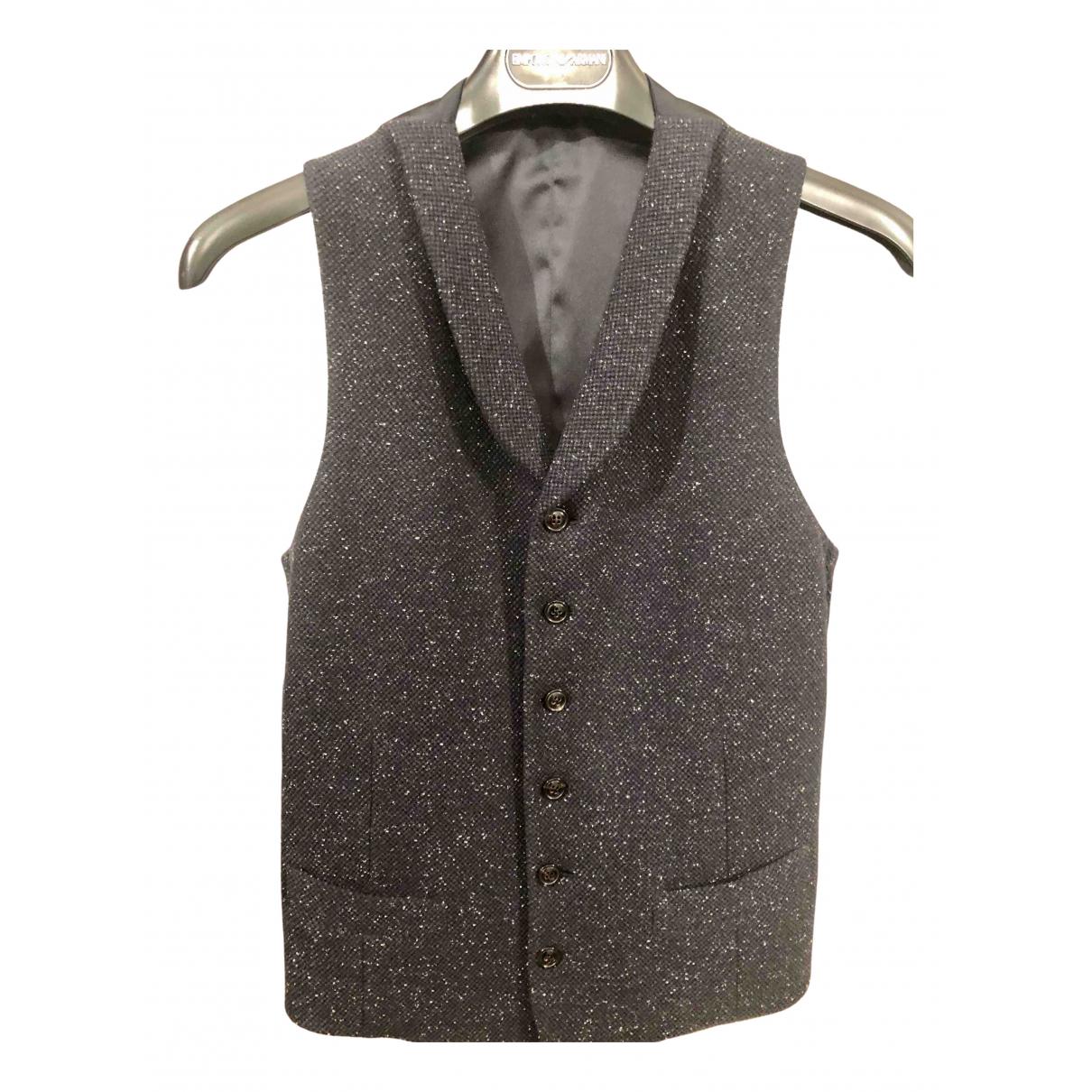 Armani Collezioni \N Pullover.Westen.Sweatshirts  in  Blau Wolle