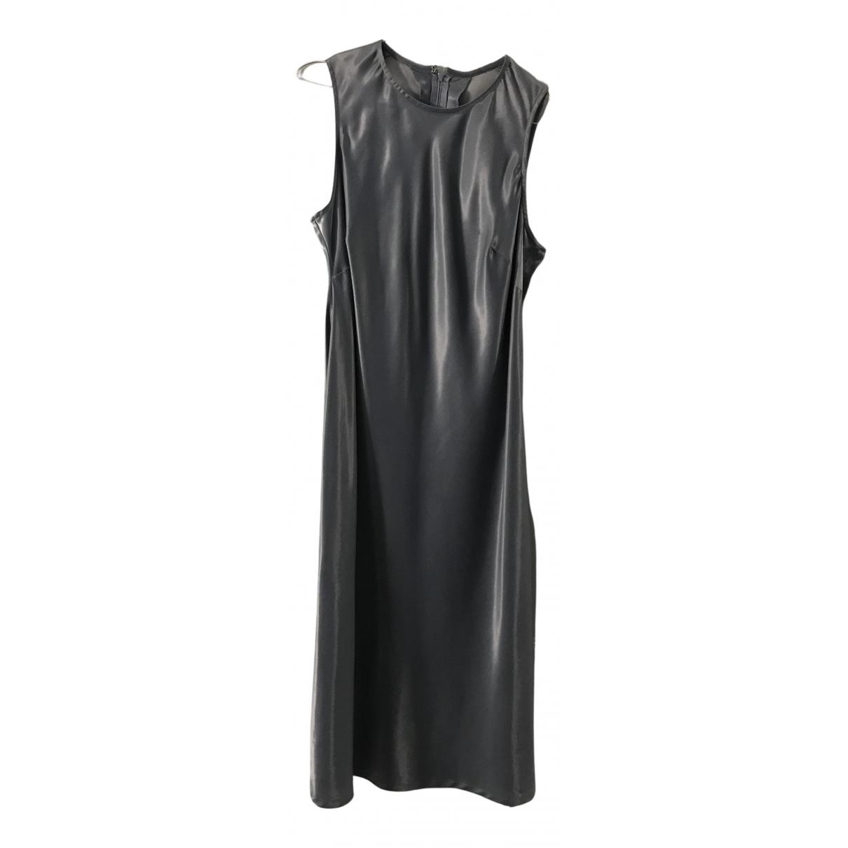 Stefanel \N Kleid in  Metallic Viskose