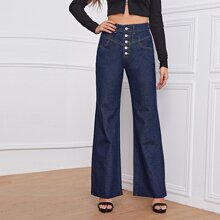 Dark Wash High Waist Wide Leg Jeans