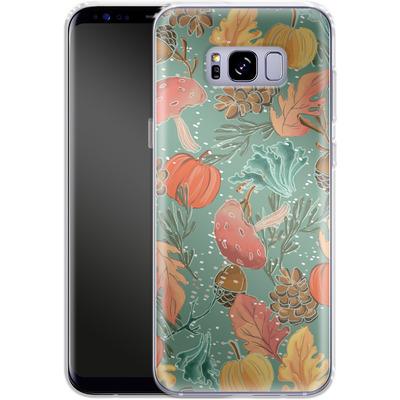 Samsung Galaxy S8 Plus Silikon Handyhuelle - Fall Woodland Green von Mukta Lata Barua