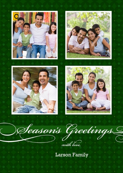 Holiday Photo Cards 5x7 Cards, Premium Cardstock 120lb with Rounded Corners, Card & Stationery -Season's Greetings with love
