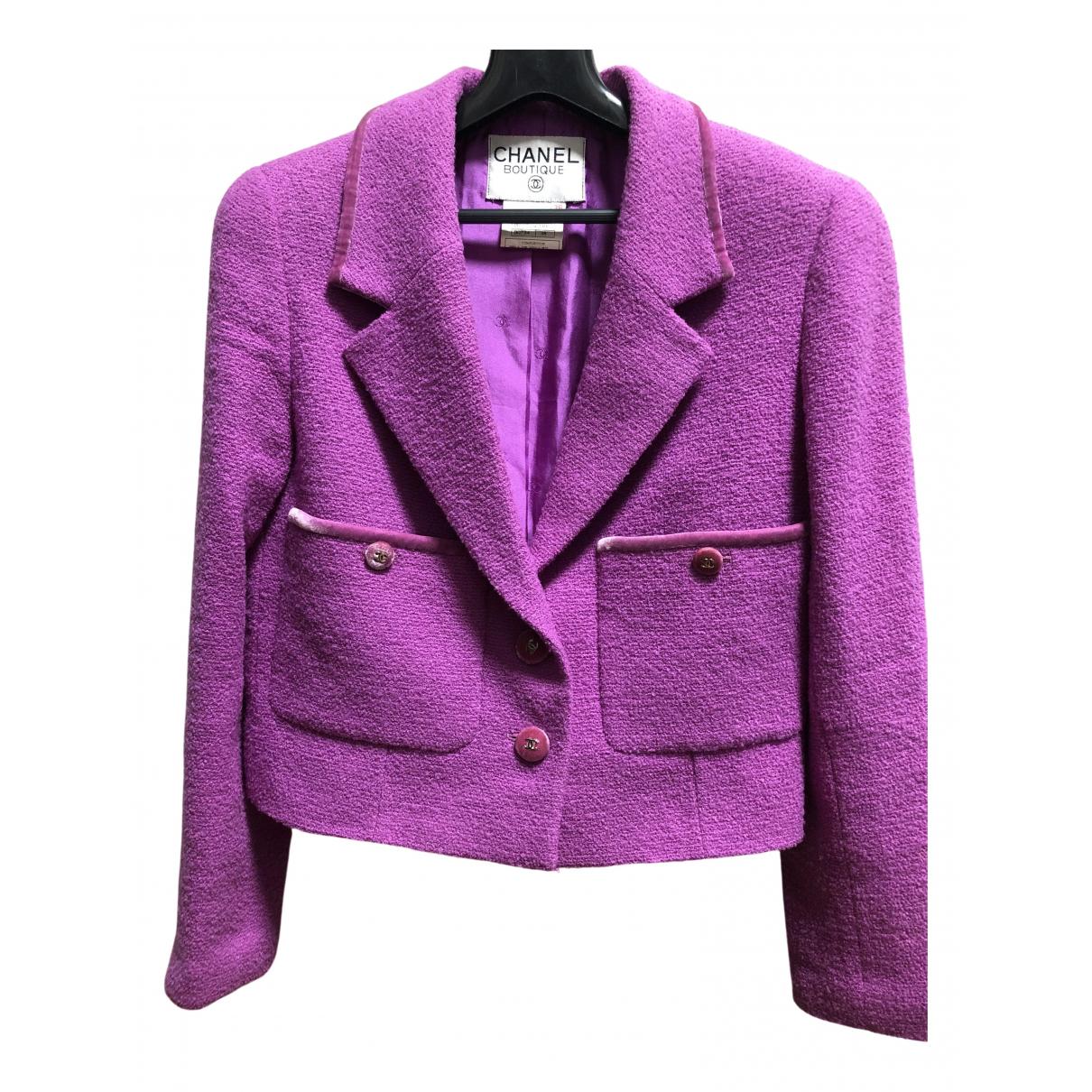 Chanel - Veste   pour femme en tweed - violet