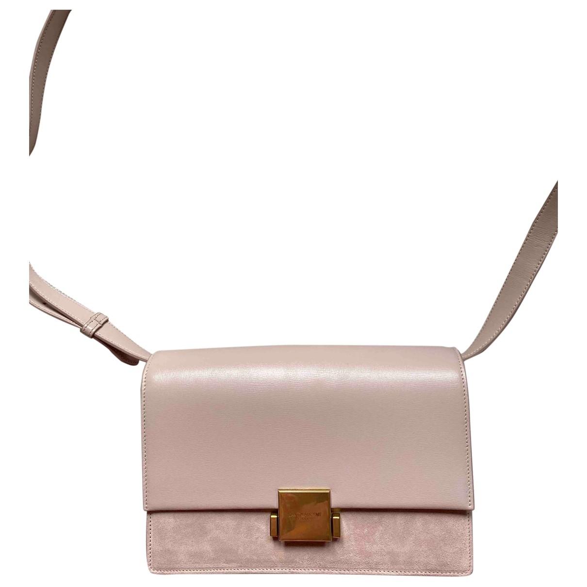 Saint Laurent Bellechasse Pink Suede handbag for Women \N