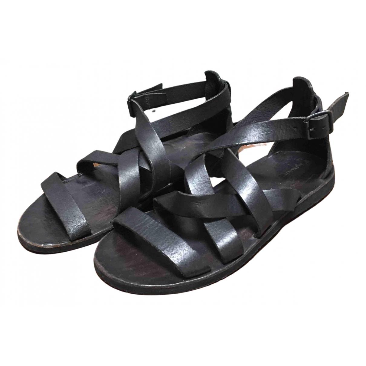 All Saints - Sandales   pour homme en cuir - noir