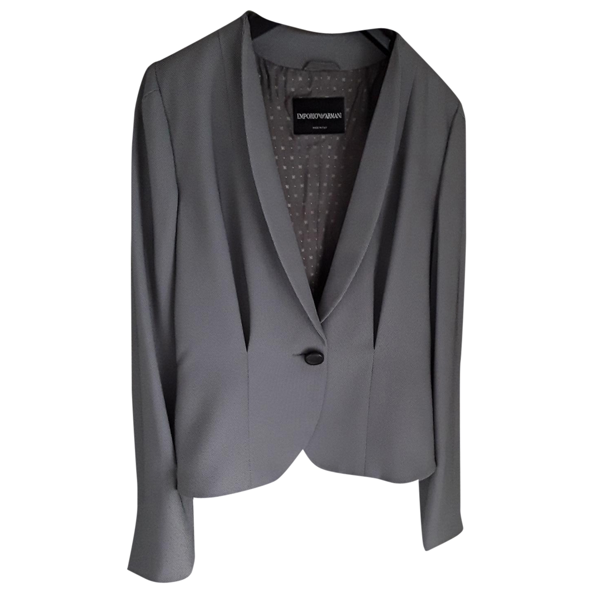 Emporio Armani \N Grey jacket for Women 36 FR