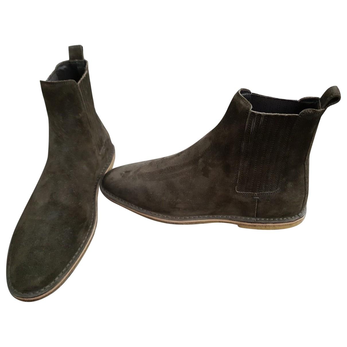 Saint Laurent \N Brown Suede Boots for Men 43 EU