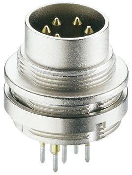 Lumberg 5 Pole Din Plug Plug, DIN EN 60529, 5A, 60 V ac IP68
