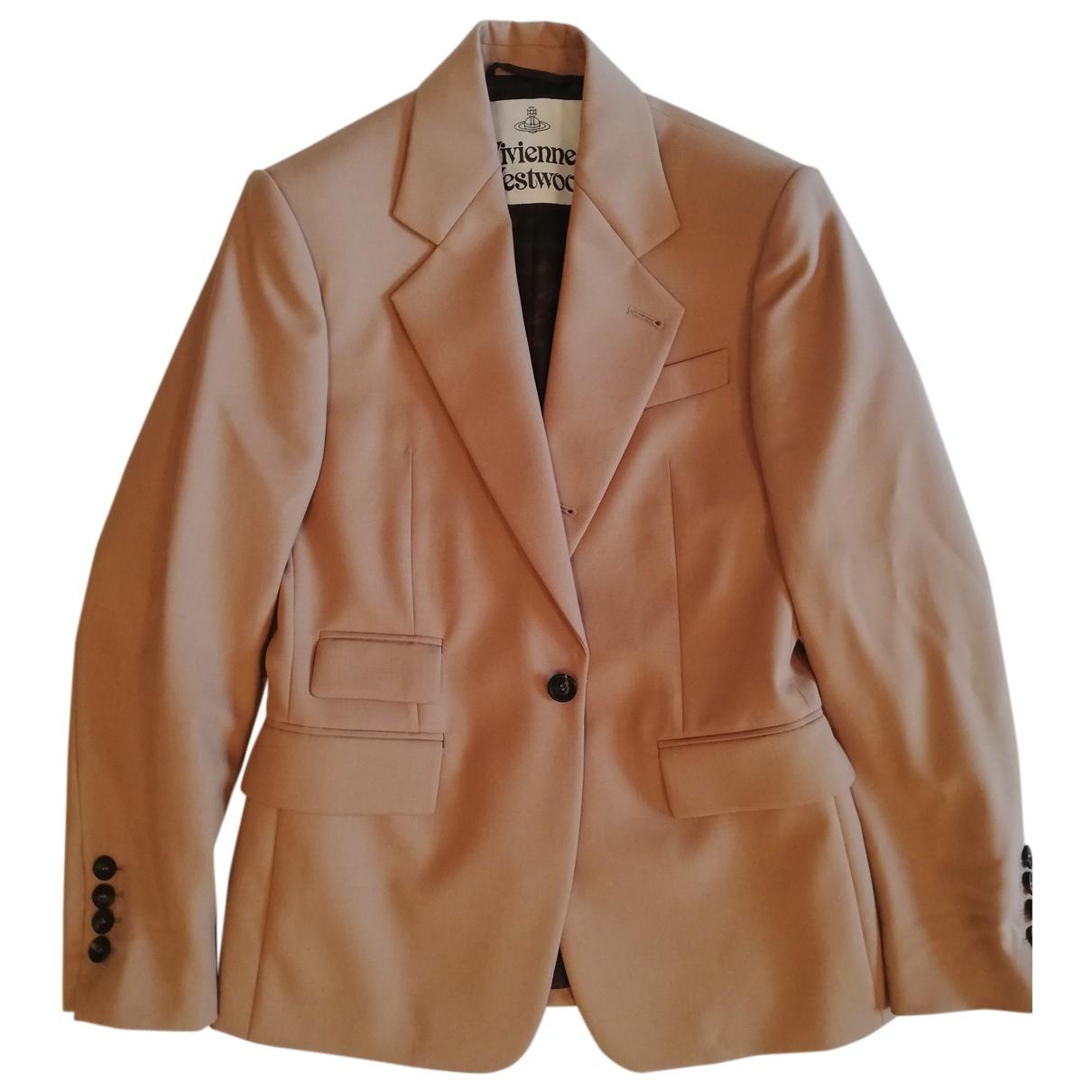 Vivienne Westwood N Beige Wool jacket for Women 46 IT