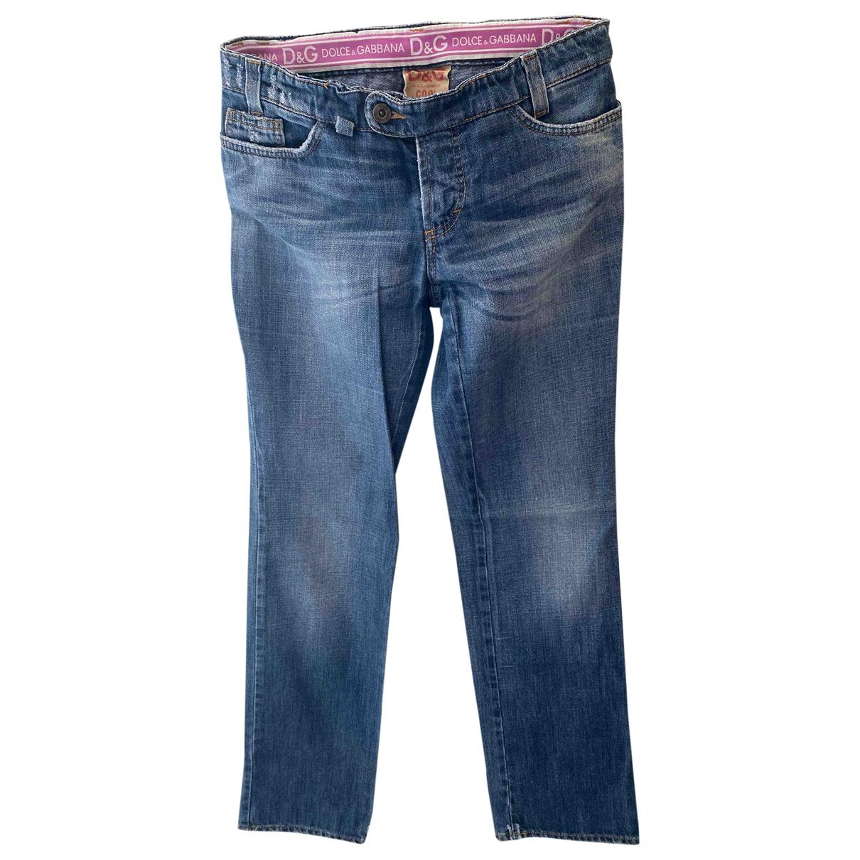 D&g \N Blue Cotton - elasthane Jeans for Women 28 US
