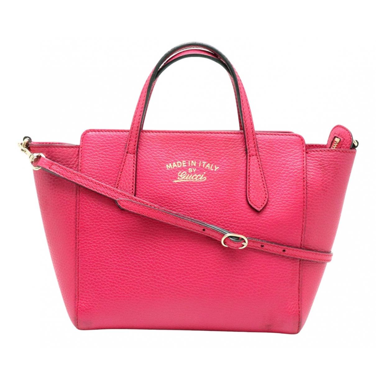 Gucci Swing Pink Leather handbag for Women N
