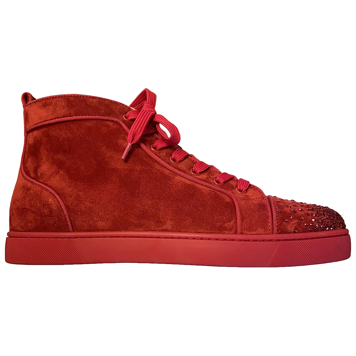 Christian Louboutin \N Red Suede Trainers for Men 44 EU
