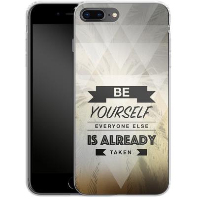 Apple iPhone 8 Plus Silikon Handyhuelle - Be Yourself von Statements