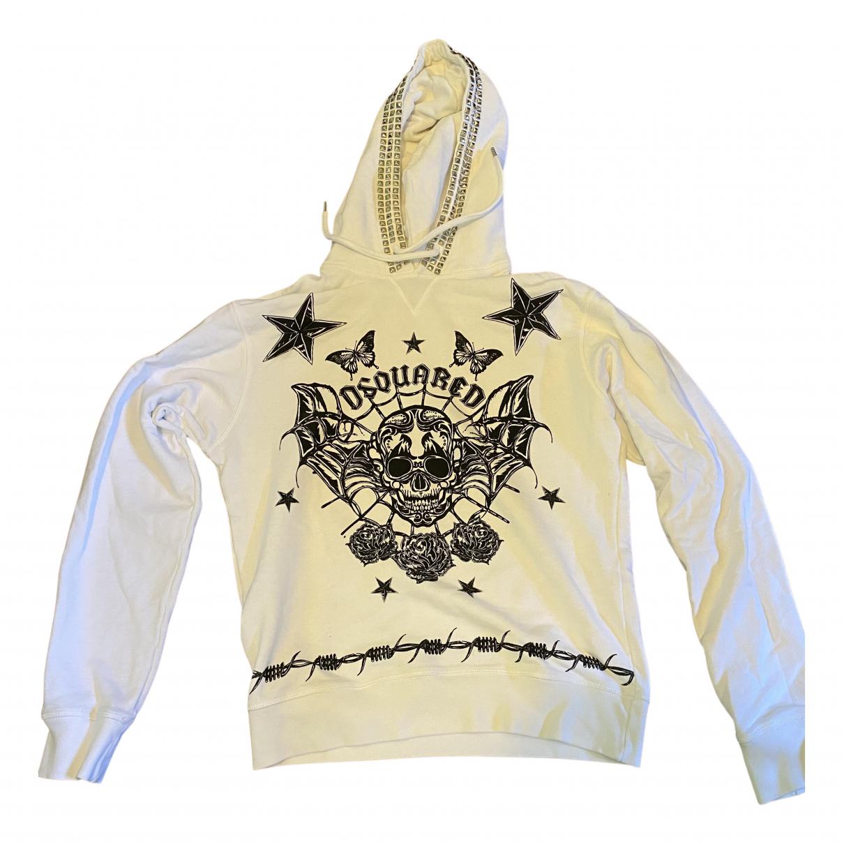 Dsquared2 \N Pullover.Westen.Sweatshirts  in  Weiss Baumwolle