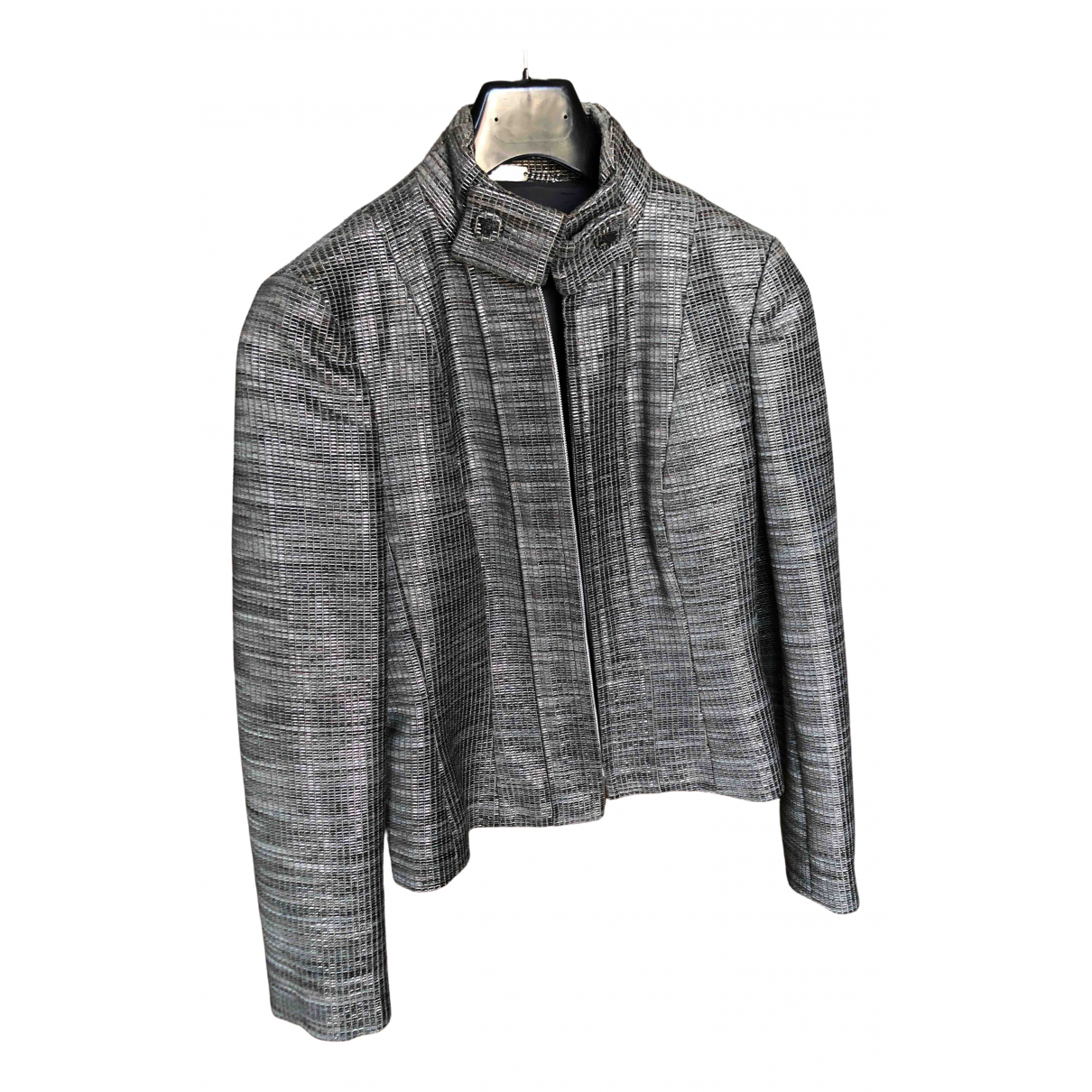 Versace \N Silver Cotton jacket for Women 40 IT