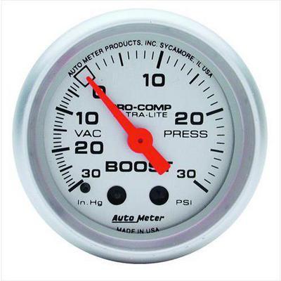 Auto Meter Ultra-Lite Mechanical Boost/Vacuum Gauge - 4403
