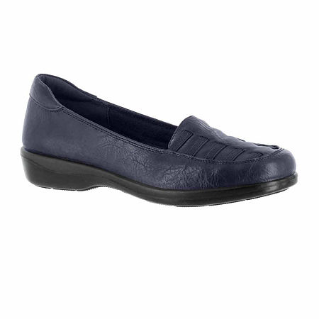 Easy Street Womens Genesis Slip-On Shoe, 5 Medium, Blue