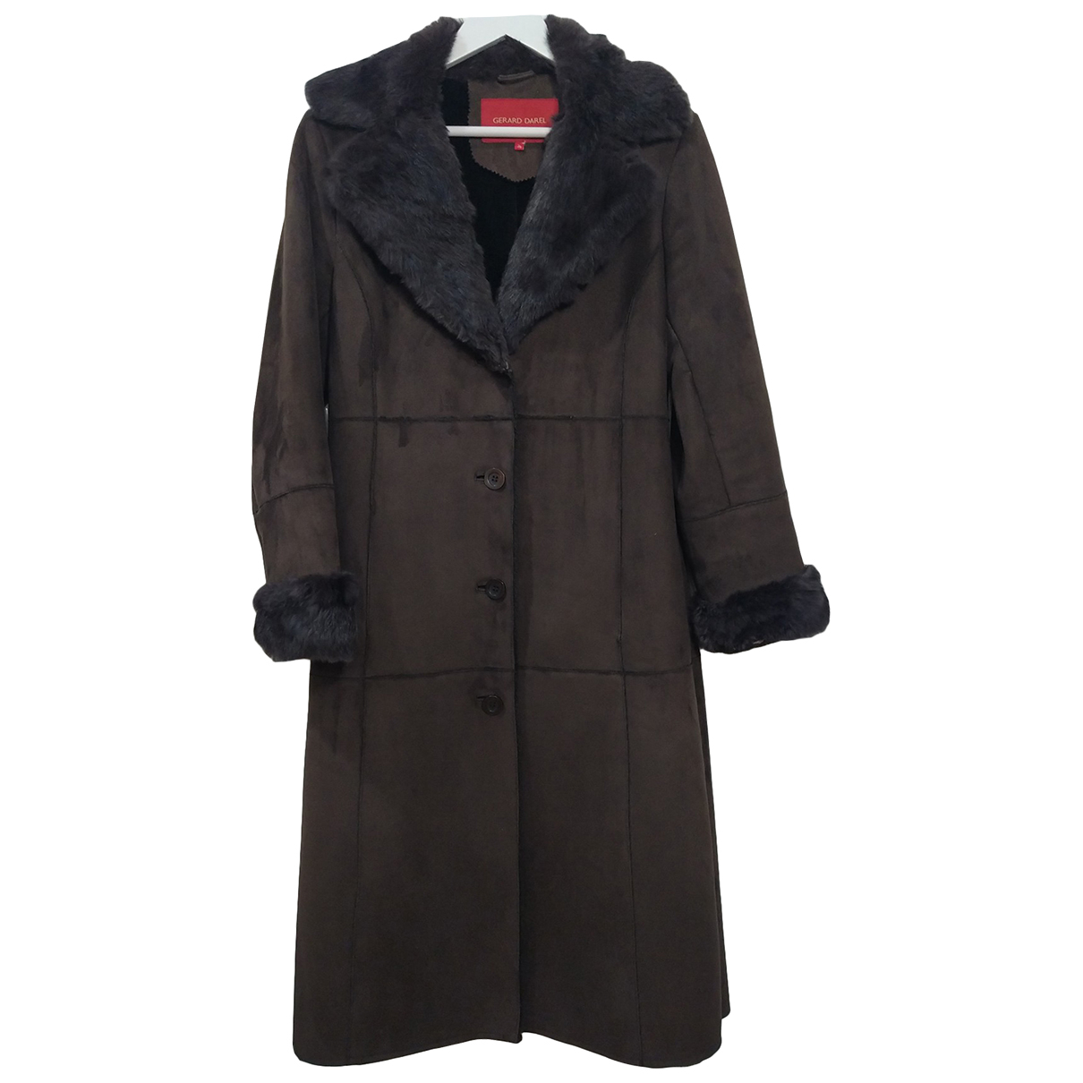 Gerard Darel N Brown coat for Women 36 FR