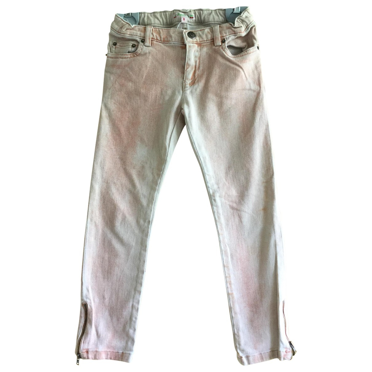 Bonpoint \N Beige Cotton Trousers for Kids 8 years - up to 128cm FR