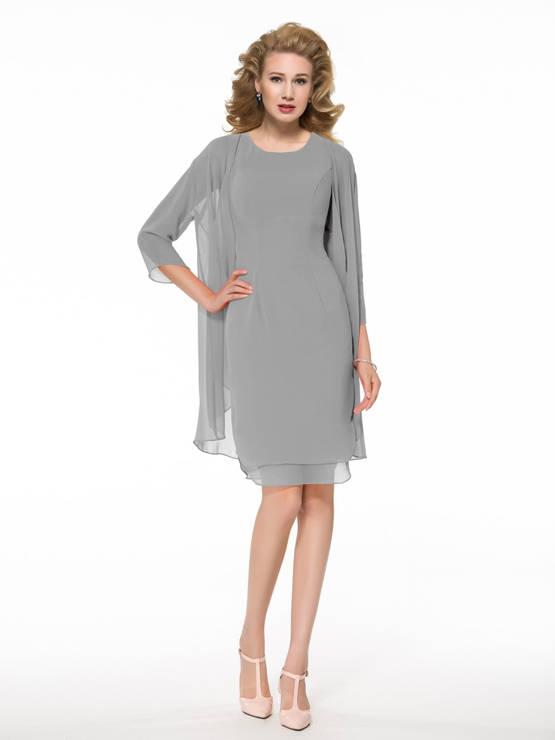 Ericdress Sheath Short Mother of the Bride Dress With Jacket