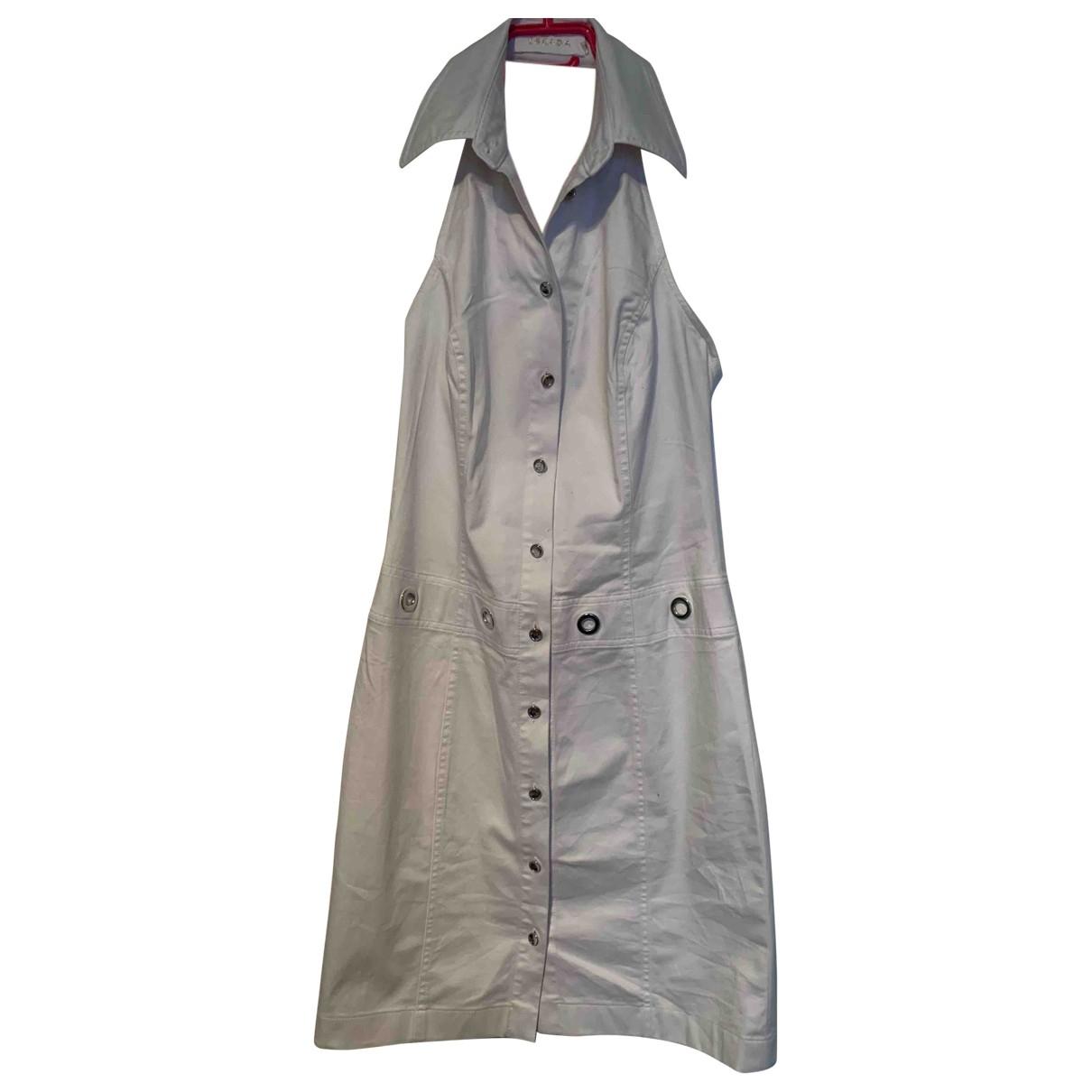 Escada \N White Cotton dress for Women 36 FR