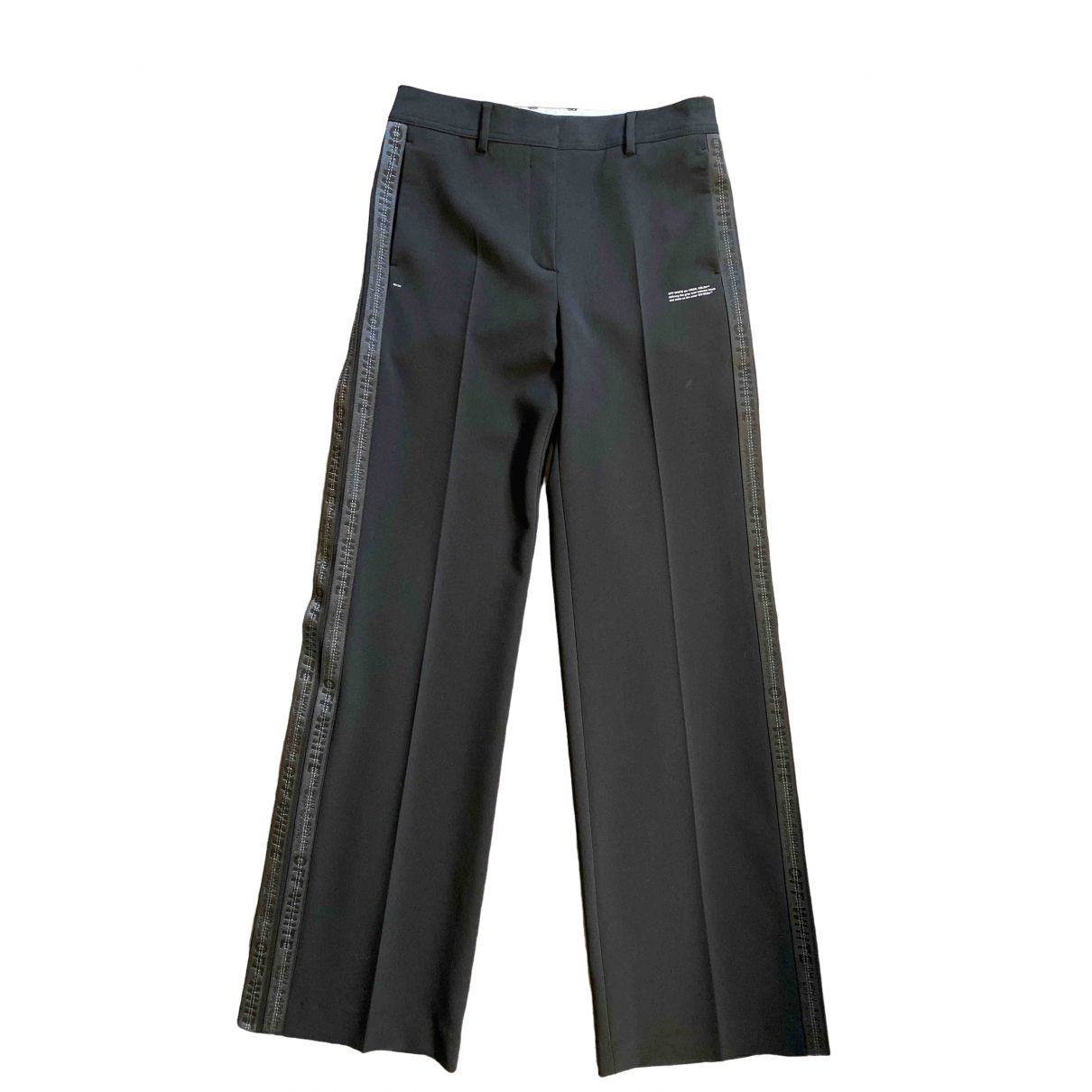 Off-white \N Black Trousers for Women 44 IT