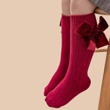 Kleinkind Maedchen Socken mit Schleife
