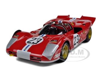 Ferrari 512 S 23 Daytona 1971 B.Adamovicz Elite Edition 1/18 Diecast Model Car by Hotwheels
