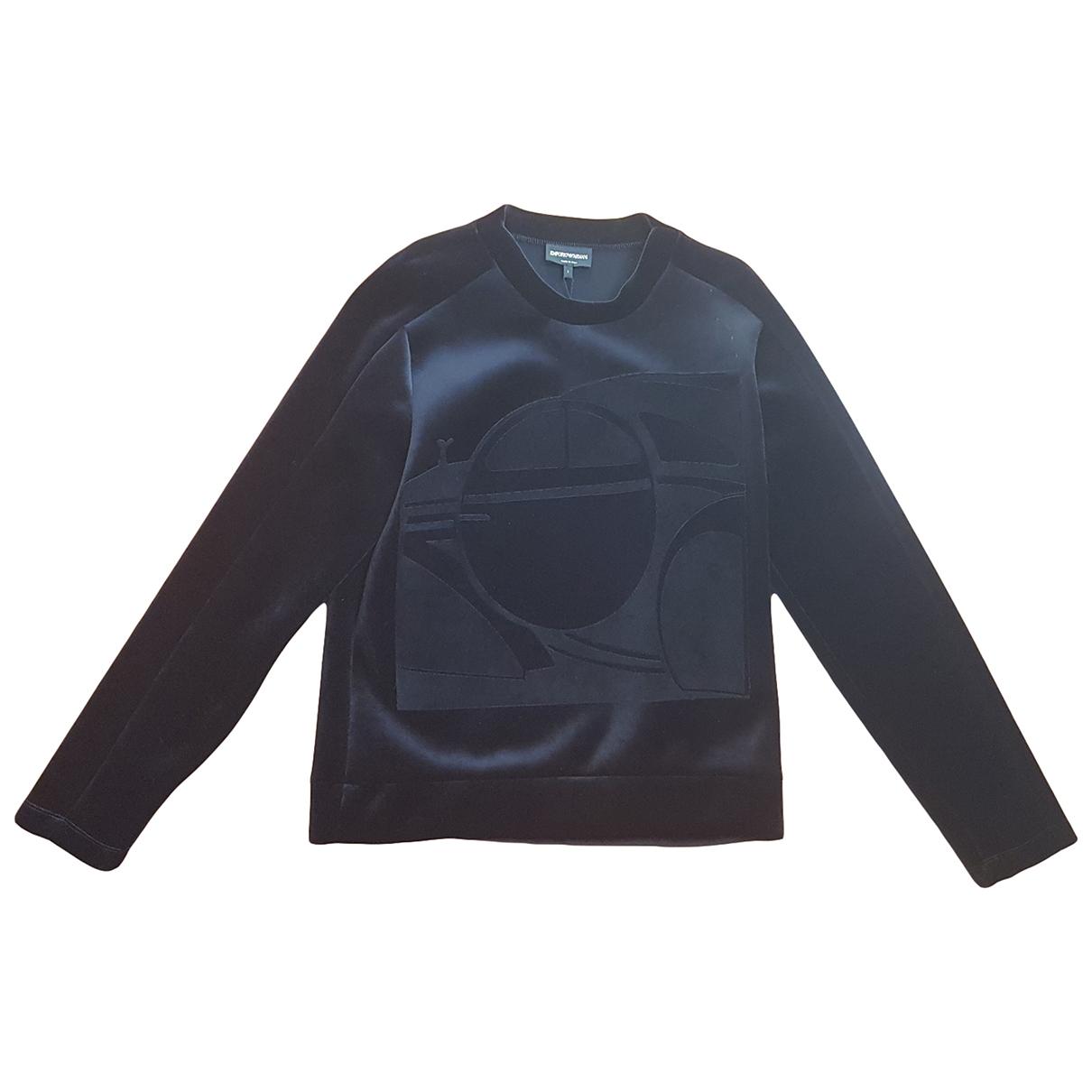 Emporio Armani \N Pullover.Westen.Sweatshirts  in  Schwarz Polyester