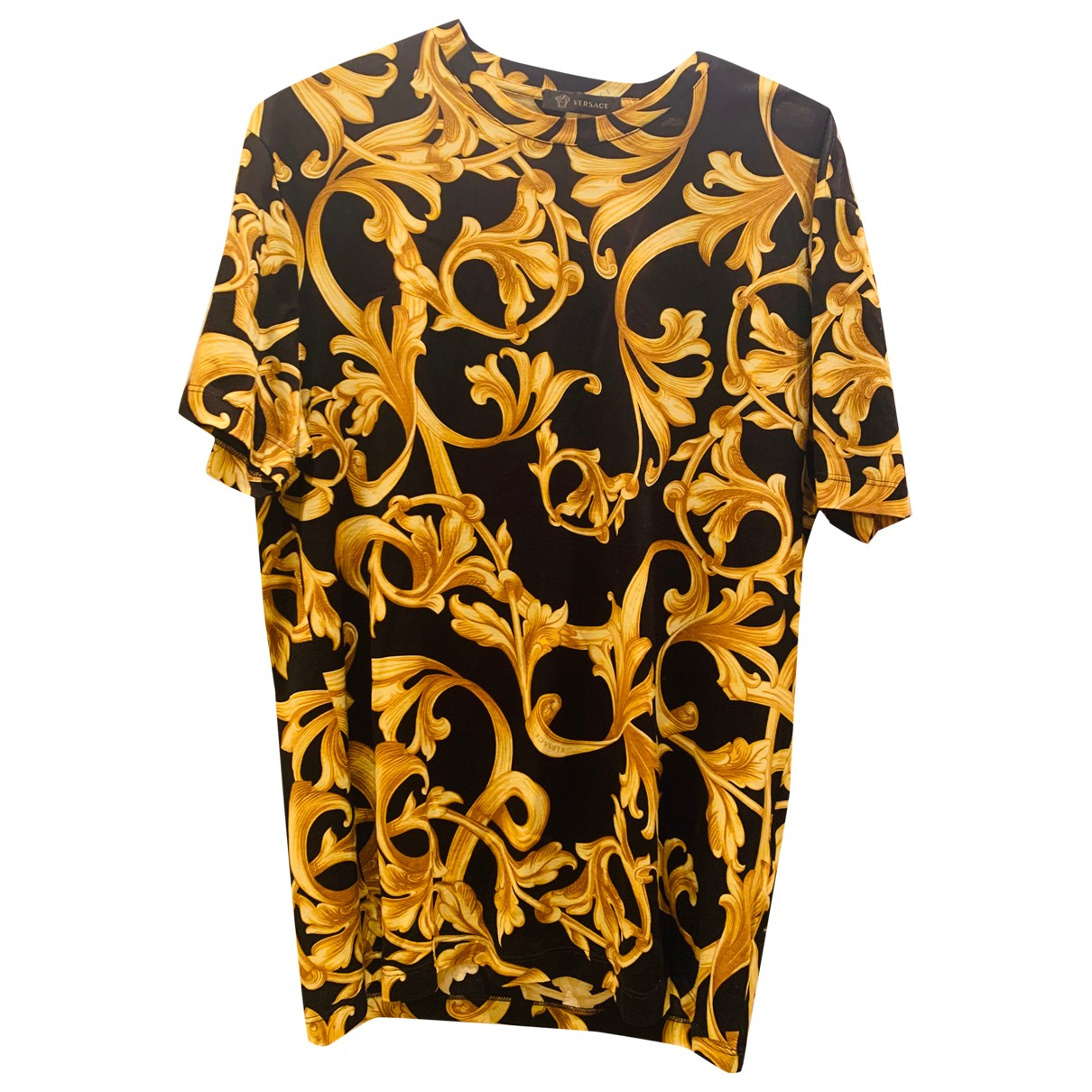 Versace N Black Cotton T-shirts for Men M International