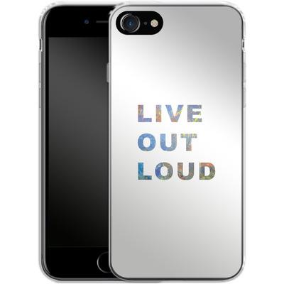 Apple iPhone 8 Silikon Handyhuelle - Live Out Loud von Kaitlyn Parker