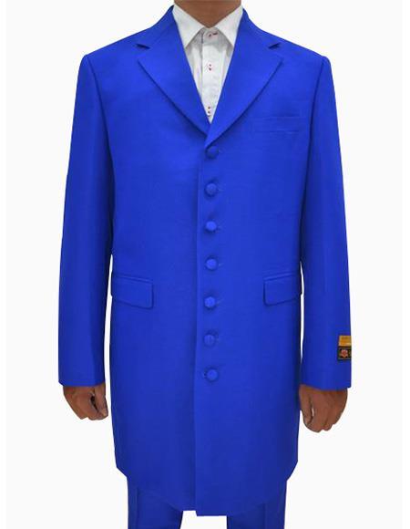 Mens Royal  Seven Button Zoot Suits