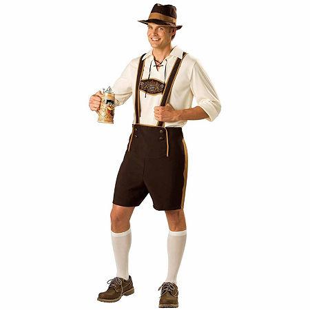 Bavarian Guy Adult Costume Mens Costume, Large , Brown