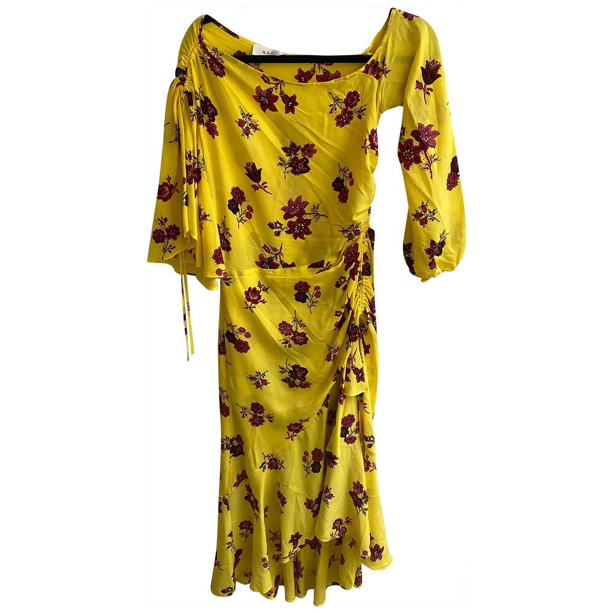 A.l.c - Robe   pour femme en soie - jaune