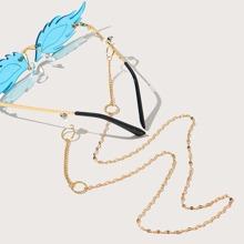 Brillenkette mit rundem Dekor