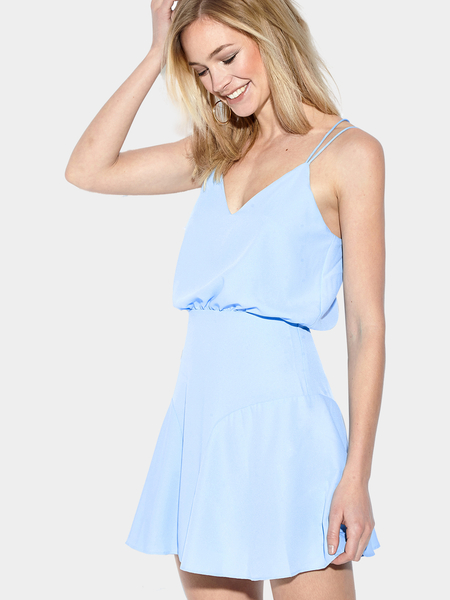 Yoins Sleeveless V-neck Mini Dress