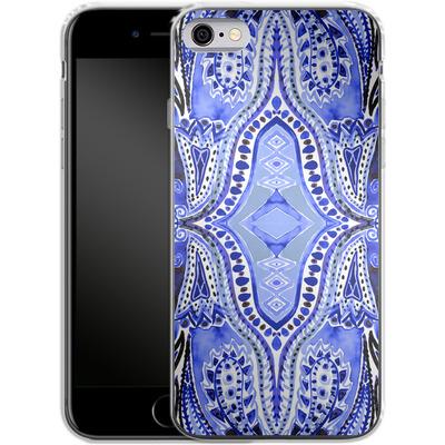 Apple iPhone 6s Silikon Handyhuelle - Paisley Blue von Amy Sia