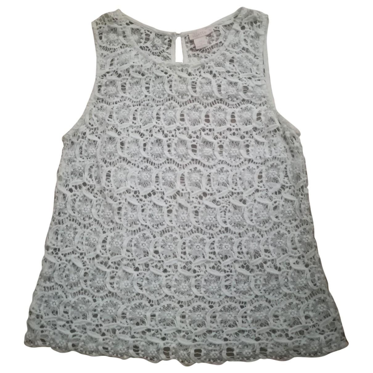 Collette Dinnigan - Top   pour femme en coton - ecru