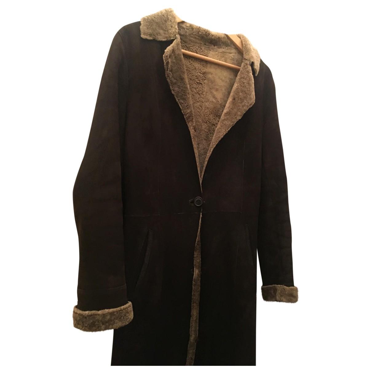 True Nyc - Manteau   pour femme en mouton - marron
